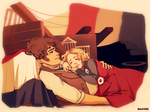 Les Mis: Courfeyrac and Gavroche by student-yuuto