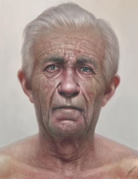 Elderly Portrait by lpeters