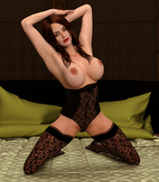 On the bed by Sparrow3D