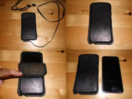 Leather cover for ipod by MonsterWhacker