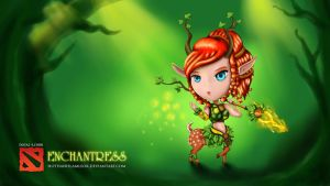 CHIBI DOTA 2 - ENCHANTRESS by hothanhlamleok