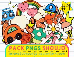 Pack 9 Pngs Shoujo by akumaLoveSongs