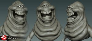 Ghostbusters - Slimer Zbrush WIP by FoxHound1984