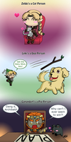 Triforce Holders like Animals by Cherry-sama