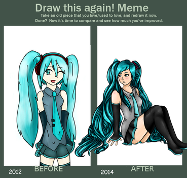 Miku before and after by RagingRoar