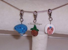 Ocarina of Time Deku and Deity Mask Charms ZELDA by TorresDesigns