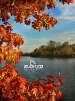Centennial Lake in Autumn by abentco