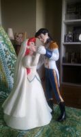 Ariel and Eric cake topper by suthnmeh
