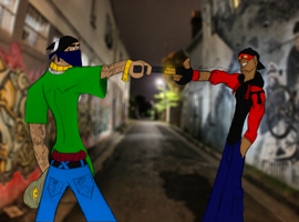 Atypical Mexican Standoff - Tytan by SplendorEnt