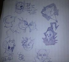 School doodles. by xDorchester