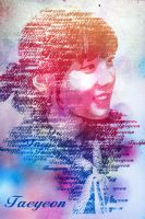 taeyeon Typography by rhuday