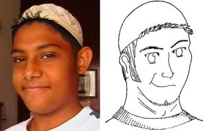 me, compared to cartoon me by FATRATKING