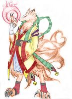 Nine-Tailed Fox - Human Form by LordSerion