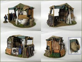 Miniature Terrain - Wreck Shelter by Bjerg