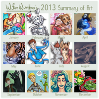 2013 Art Summary by WforWumbo