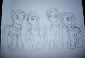 Doctor Who Ponies by Qemma
