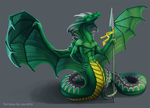 Terralux the Naga by Leundra