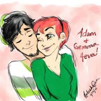 Adam and Gemma by kyoishott13