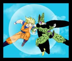 Goku Vs Cell by HTivey