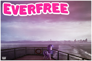 postcards from Everfree--rarity by CosmicUnicorn
