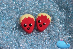 Mini Strawberry Earrings by Shelby-JoJewelry