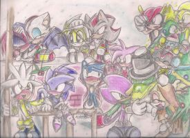 Sonic: christmas by andreahedgehog