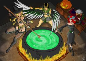 Halloween in Smite 2 by Mike-Tr