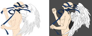 Base Edit - Tangled Male Angel by Mature-Bases