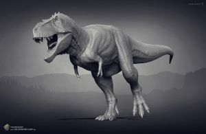 Tyrannosaurus. The Stomping Land. 01 by Swordlord3d