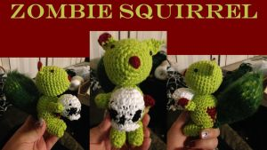 Zombie Squirrel by adagiobreezes