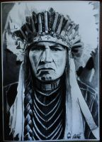 Sitting Bull drawing by alainmi
