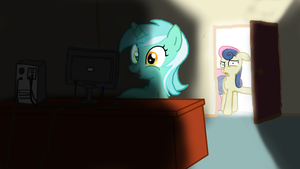 Lyra Discovers the Interwebs by Doctor-Derpy