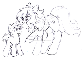 Sketch: Mommy's little troublemaker by Honeycrisp1012
