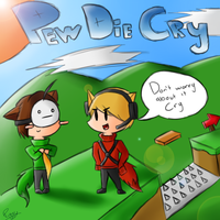 Livestream: Pewdiecry Bloody Traplands by Piggy-The-PumpedPig