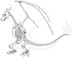 Charizard Skeleton by Chibi-Pika
