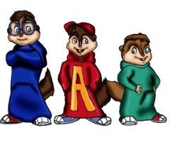 The Chipmunks by Axels-inferno