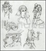 Twitter Sketches 1 by Nanuka
