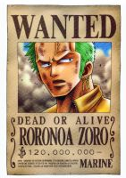 Zoro wanted by juju67