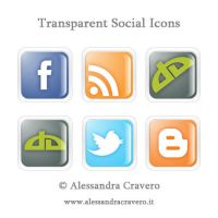 Transparent Social Icons by LaAlex