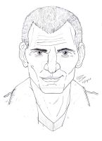 Pencil Portrait - The Doctor (Chris Eccleston) by OptimumBuster