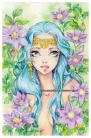 Lynette -watercolors- by auroreblackcat