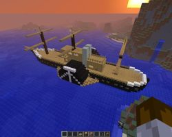 Minecraft revised steam ship pic2 by falcon01