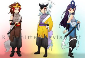 Gijinka: Legendary Beasts by klinanime