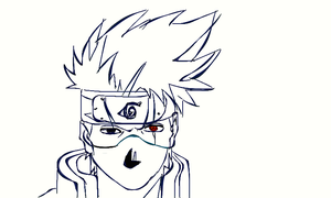 kakashi line drawing by dully101