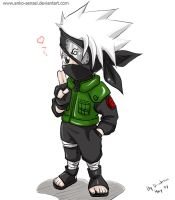 Chibi Kakashi_colored by Anko-sensei
