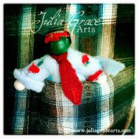 Executive Zombie Pocket Doll - In Pocket by JuliaGraceArts