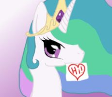 Princess Celestia Colored by Sabellion