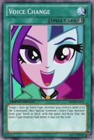 Voice Change (MLP): Yu-Gi-Oh! Card by PopPixieRex