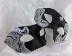Black and Silver Couples Masquerade Masks by DaraGallery