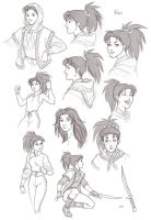 Second Six: Nian expressions by AriochIV